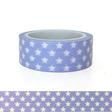 20pcs/set Washi Adhesive Tape Cute Kawai Japanese Paper for Children Gift Grey and Purple Stars