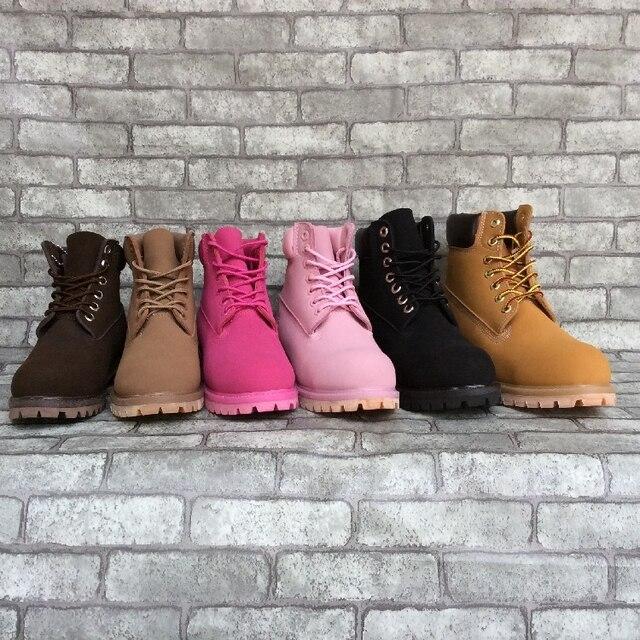 Любовника Обувь Мужчины Классические Ботинки Мартин Женщины Военные Сапоги На Открытом Воздухе Альпинистские Ботинки Белый Розовый Черный Сапоги