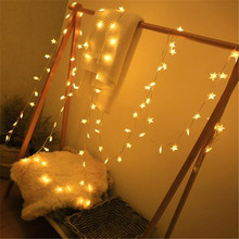 1.5M 3M 6M Fairy Garland LED Star Holiday String Lights Waterproof For Christmas Tree Wedding Home Indoor Decoration 10 20 40Led string lights new 1 5m 3m 6m fairy garland led ball waterproof for christmas tree wedding home indoor decoration battery powered