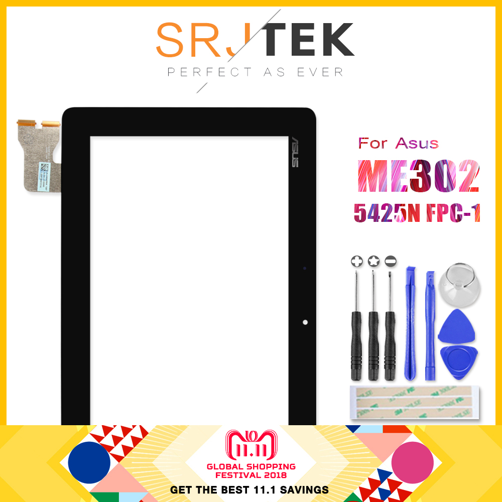 Digitizer For ASUS MeMO Pad FHD 10 ME302 ME302C ME302KL K005 K00A 5425N FPC-1 Touch Screen Digitizer Glass Sensor Tablet Pc 10 1 inch claa101fp05 xg b101uan01 7 1920 1200 ips for asus memo pad fhd10 me302kl me302c me302 k005 k00a lcd display screen