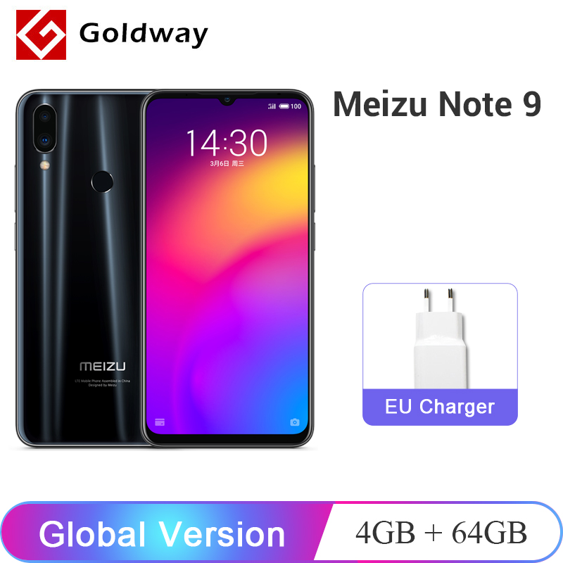 "Global Version Meizu Note 9 4GB RAM 64GB ROM Smartphone Snapdragon 675 Octa Core 6.2"" 48MP Camera 4000mAh Note9 Mobile Phone"