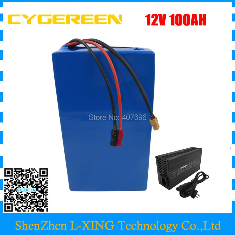 High quality 350W 12V 100AH battery 12 V 100AH Lithium ion battery for 12V 3S Li ion Battery with 5A charger EU US no tax free customs fee 350w 12v 40ah battery 12 v 40000mah lithium ion battery for 12v 3s rechargeable battery 12 6v 5a charger