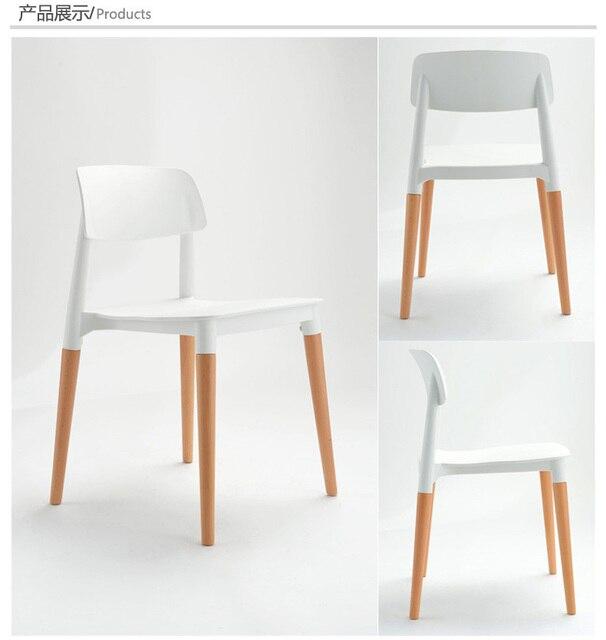 Legno e sedia Di Plastica, sedia da pranzo in legno, mobili ...