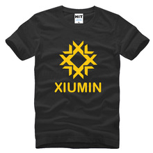 Korean fans club wolf 88 Xiumin Mens Men T Shirt Tshirt Fashion 2015 New Short Sleeve Cotton T-shirt Tee Camisetas Hombre