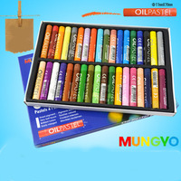 36 Colores Pastel Al Óleo Dibujo Conjunto Forma Redonda Suave Lápiz De Cera Cepillo Niños Útiles Escolares Artista de Graffiti