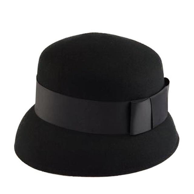FS 2017 Autumn Winter 100% Wool Wide Brim Vintage Fedora Hat