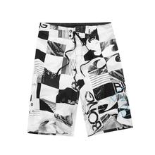 2018 Quick Dry Print Men Polyester Shorts Surf Board Summer Sport Beach Homme Bermuda Short Pants