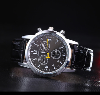 Low price Montre Homme men watch Leather strap Military Quartz watch Mens Business Casual watches Clock Male relogio masculino Women Quartz Watches
