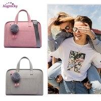 2019 PU Leather Handbag Notebook Laptop Bag waterproof Women Messenger Shoulder Bag Case for MacBook Air Pro 13.3 14 15.6 inch