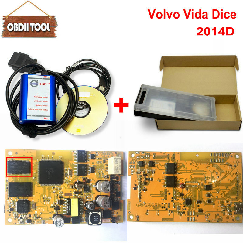 With Plactic Box For Volvo Diagnostic Tool For Volvo Dice Pro+ 2014D Full Chip Communication Equipment For Volvo Vida Dice Pro