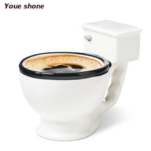 New Creative Funny Toilet Seat Bottle with Handgrip Funny Gag Brief Lovers Coffee Mug Tea Bottle
