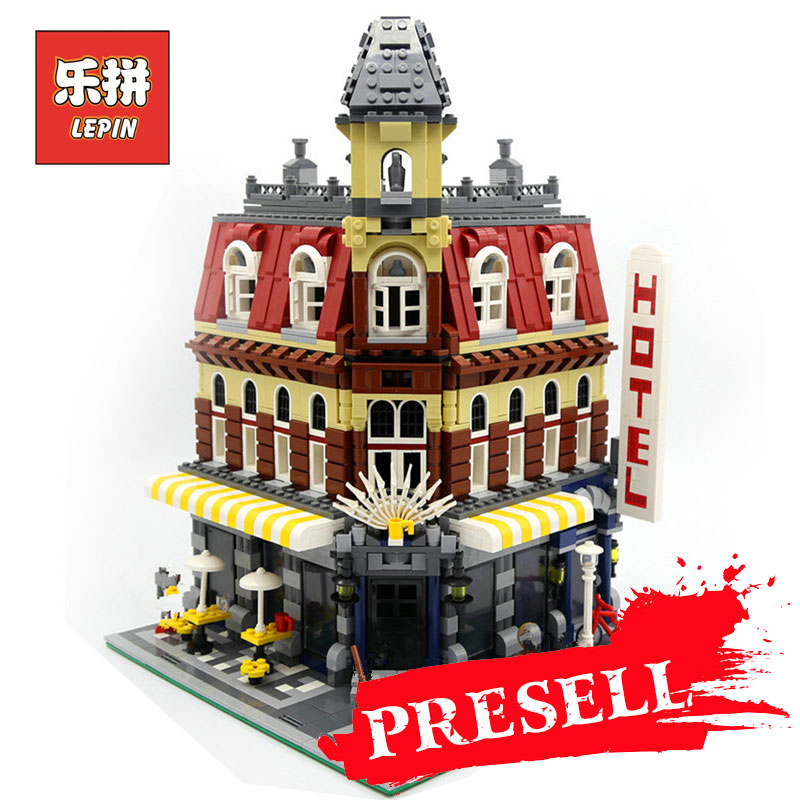 LEPIN 15002 2133Pcs Cafe Corner Model Building Blocks Bricks Educational Gift Compatible with LegoINGlys 10182 Toys for Children lepin 22001 imperial flagship building bricks blocks toys for children boys game model car gift compatible with bela decool10210