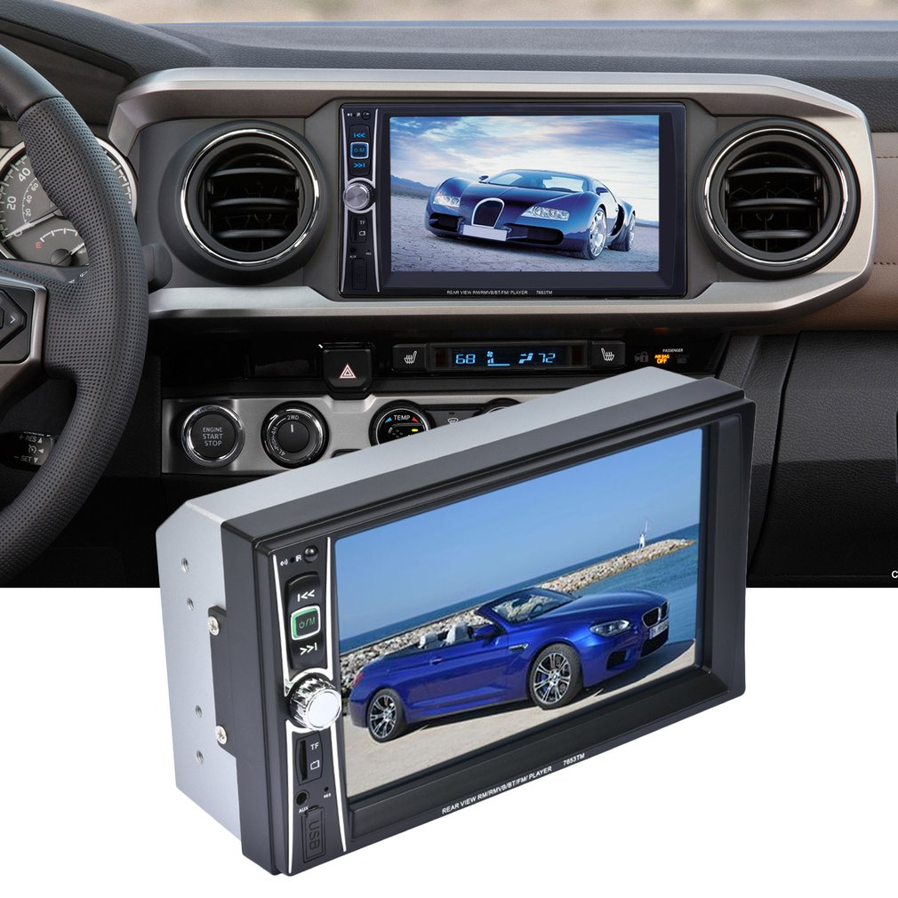 Professional 2 Din 7 inch Touch Screen Car Radio Mp5 Player Bluetooth Mp5 1080P Movie Support Rear View Camera Car Audio steering wheel control 7 inch touch screen car radio mp5 mp4 player 1 din bluetooth usb tf fm support rear camera 5 languages