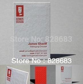 200 шт двусторонняя печать визитных карточек-художественная бумага с тиснение логотипа-90* 54mm-350gms художественная бумага