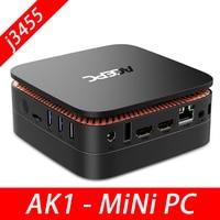 ACEPC AK1 портативный ПК с ОС Windows 10 Настольный компьютер Intel Celeron Apollo Lake J3455, 4 ГБ, 64 ГБ, 12 V HDMI 4 K с Wi Fi RJ45 мини ПК с Linux WIN10