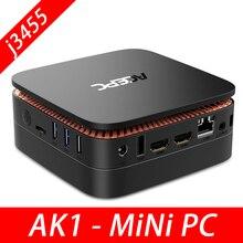 AK1 Mini PC Windows10 Mini Computer Intel Celeron Apollo Lago J3455 8G di RAM 128GB SSD HTPC Ufficio HDMI wiFi4K USB3.0 Mini Desktop di