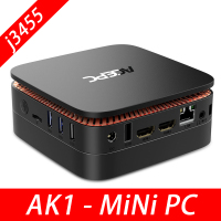 AK1 Mini PC Windows10 Mini Computer Intel Celeron Apollo Lake J3455 4G RAM 64GB SSD HTPC Office HDMI WiFi 4K USB3.0 Mini Desktop