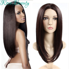 HOT perruque synthetic women Long Straight Hair Black/Brown wigs Heat Resistant Fiber Cosplay Wig peruca pelucas hair wigs