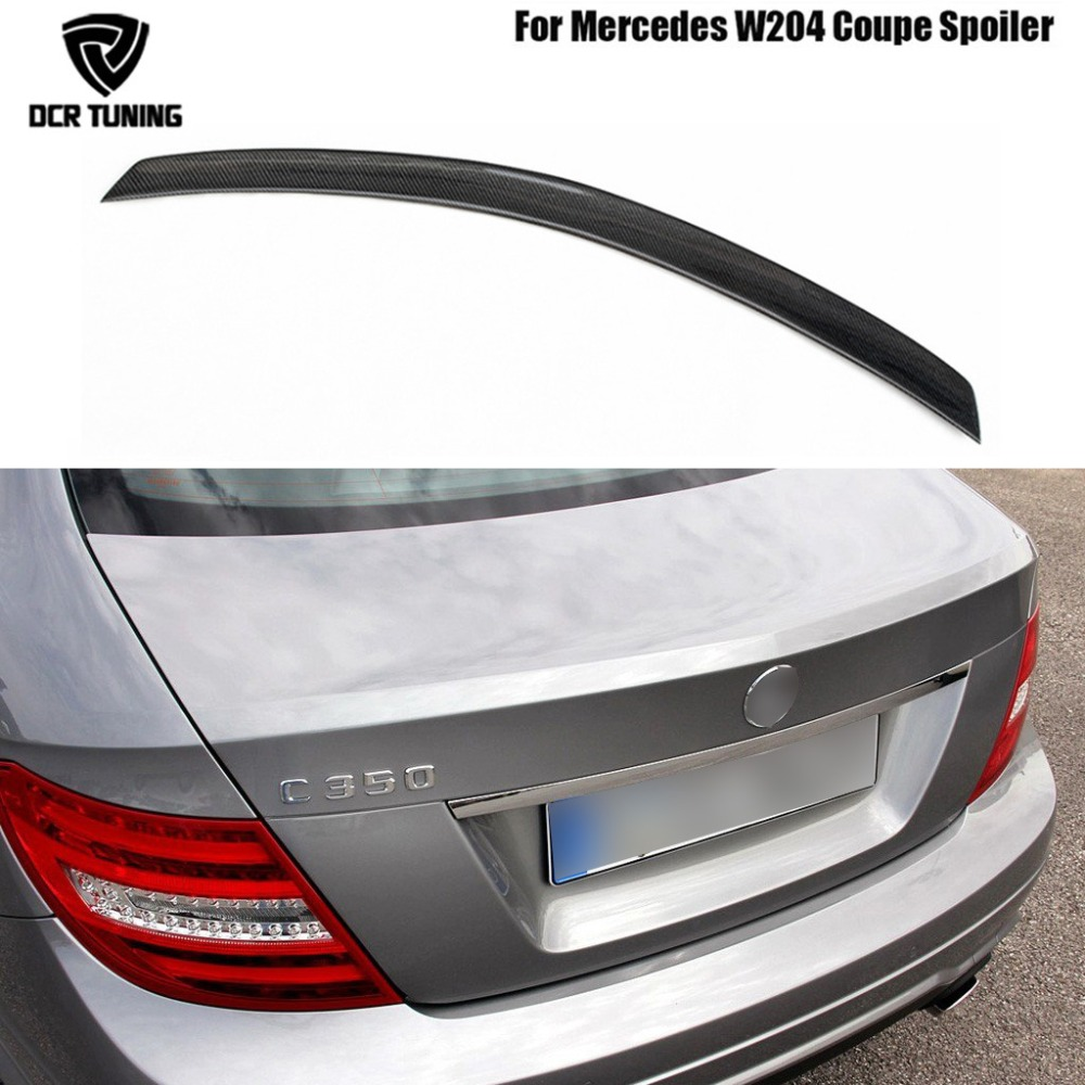 AMG Style For Mercedes W204 AMG Carbon Fiber Spoiler 2008 2010 2011 2012 2013 2014 C Class W204 Carbon Spoiler 2-Door Coupe цена