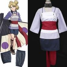 Anime Naruto Temari rescate sasuke ver Cosplay traje de Halloween para la mujer por encargo
