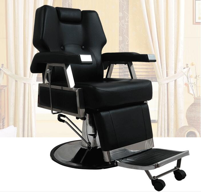 Купить с кэшбэком Hairdressing and clipping shop chair old-style shaving stool simple modern and vintage lift can be put down for use in the hair
