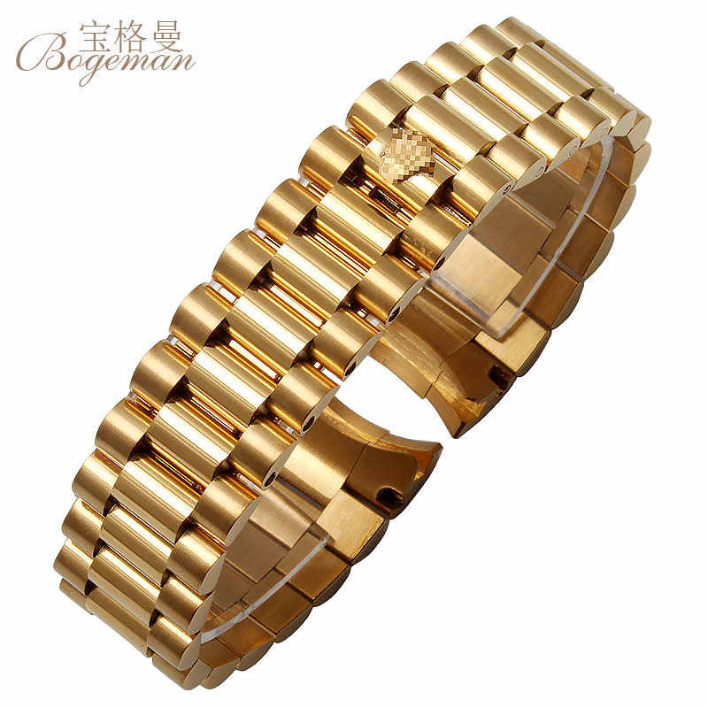 13/17/20 mm Watch accessories for Rolex water ghosts waterproof series with  folding buckle men\u0027s steel strap watch band.