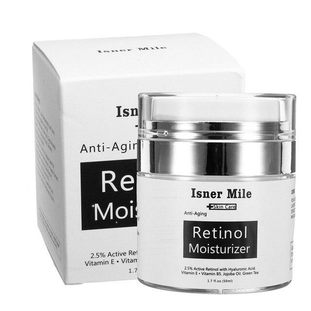 0333707926e6 US $9.86 21% OFF|50ml Retinol Moisturizer Face Cream 2.5% Hyaluronic Acid  Shriink Pores Anti Aging Remove Wrinkle Vitamin Smooth Whitening Cream-in  ...