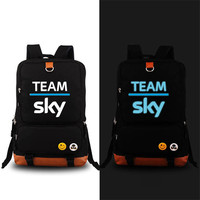 High Quality Team Sky Pro Cycle Logo Printing Women Backpack Unisex Canvas School Bags Large Laptop