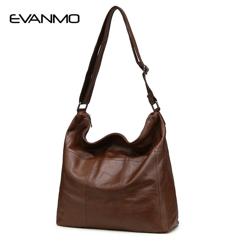 Большой Повседневное Для женщин сумка-хобо Мягкая натуральная телячья кожа сумки на ремне Женский Большой Tote ведро сумки мешок-вкладыш