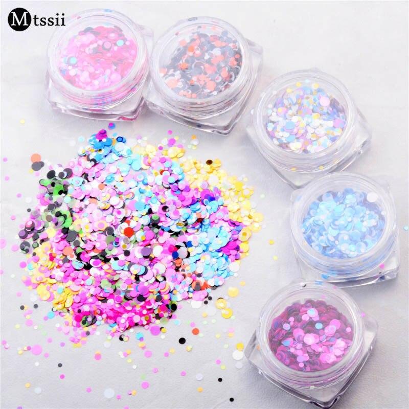 12 Cutie Mixed Dimensiune Colorat Unghii Glitter Sequins Decalouri - Manichiură