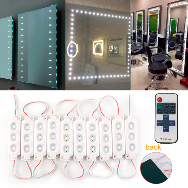 Bathroom Mirrors Uk Suppliers aliexpress : buy 1.5 m 10 row + dimmer + adapter 5630 modern