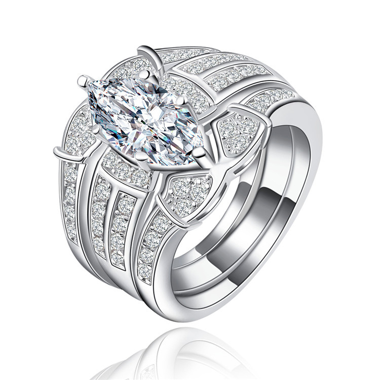 Online Get Cheap 3 Piece Wedding Ring Set Aliexpresscom