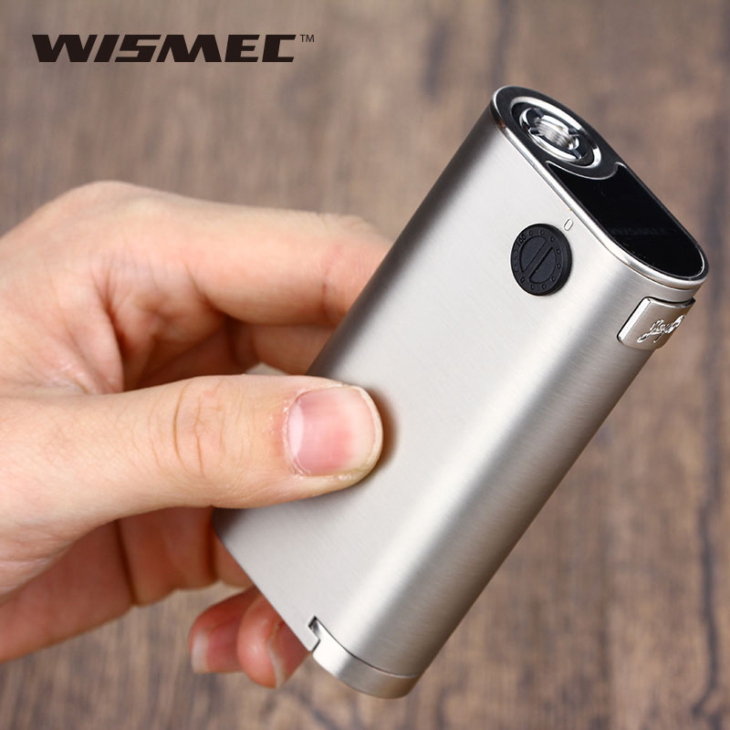 Original WISMEC Noisy Cricket II 22 MOD E Cigarette Noisy Cricket 2 Box Mod 22mm Diameter Mechanical Box Mod fit Elabo Mini Tank