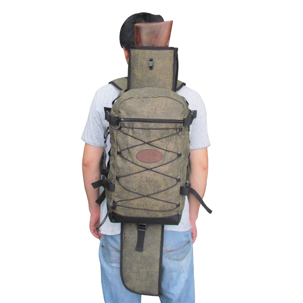 Tourbon Hunting Gun font b Bag b font Outdoor Canvas Rucksack with Large Capacity Detachable Shotgun