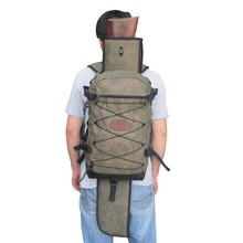 Tourbon Hunting Gun Bag Outdoor Canvas Rucksack with Large Capacity Detachable Shotgun Holster Men Backpack for Shooting