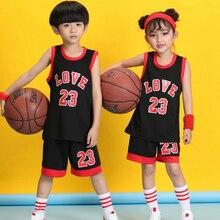 Детские Молодежные баскетбольные майки, форма, спортивная одежда, детские пустые баскетбольные наборы, комплекты дышащих тренировочных шорт для мальчиков
