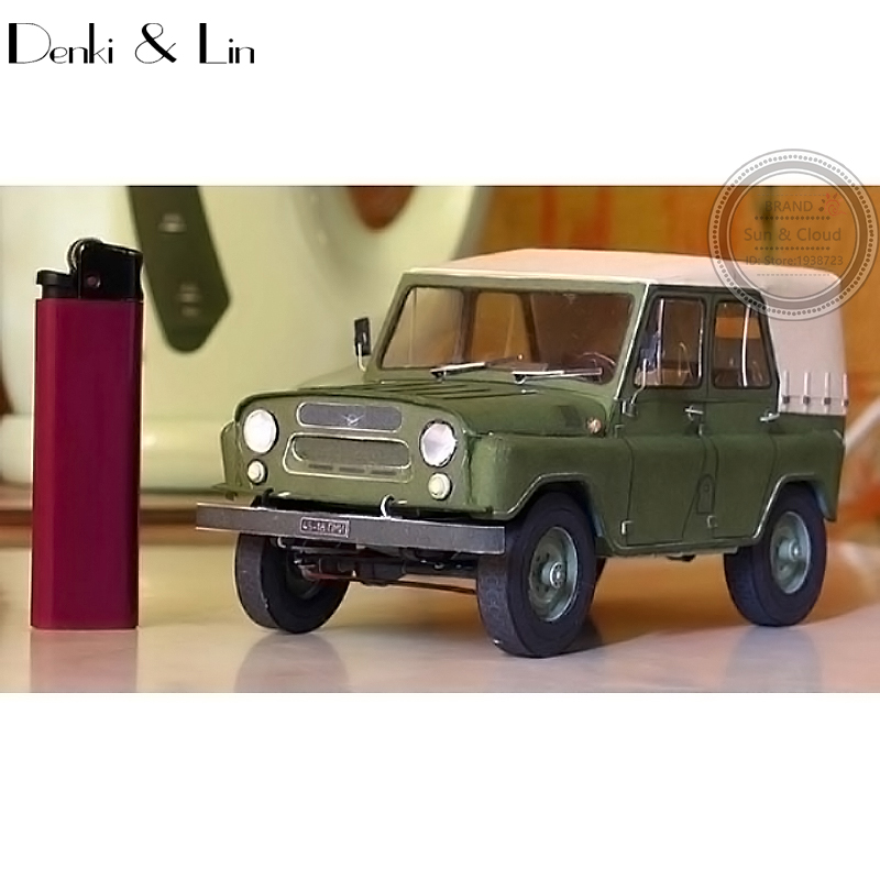 1:25 DIY 3D Russia UAZ-469  Off-road Military Jeep Vehicle Paper Model Second World War Assemble Hand Work Puzzle Game