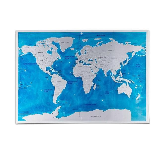 Diy scratch off world map poster deluxe travel edition ocean world diy scratch off world map poster deluxe travel edition ocean world map wall sticker personalized traveler gumiabroncs Images