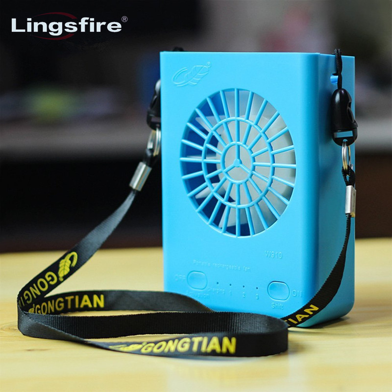 Multi-functional Rechargeable Hanging Mini Fan 3 Speeds Handheld Portable Fans Home Office Travel Air Cooling Desktop USB Fan computador cooling fan replacement for msi twin frozr ii r7770 hd 7770 n460 n560 gtx graphics video card fans pld08010s12hh