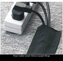 25mtr pack 75mm black strong floor cable cover protection with hook velcr of carpet wrap