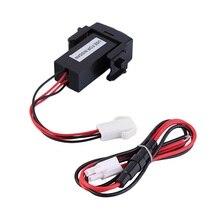 Nouvelle Auto 12 v Double 2 Port USB avec Audio Charge Rapide Chargeur De Voiture Fit Pour Nissan Gros