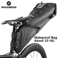 ROCKBROS Newest Waterproof Bike Bag Bicycle Accessories Saddle Bag Cycling Mountain Bike Back Seat Rear Bag
