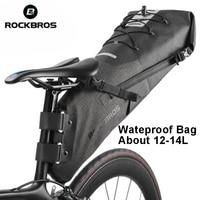 ROCKBROS Newest Waterproof Bike Bag Bicycle Accessories Saddle Bag Cycling Mountain Bike Back Seat Rear Bag