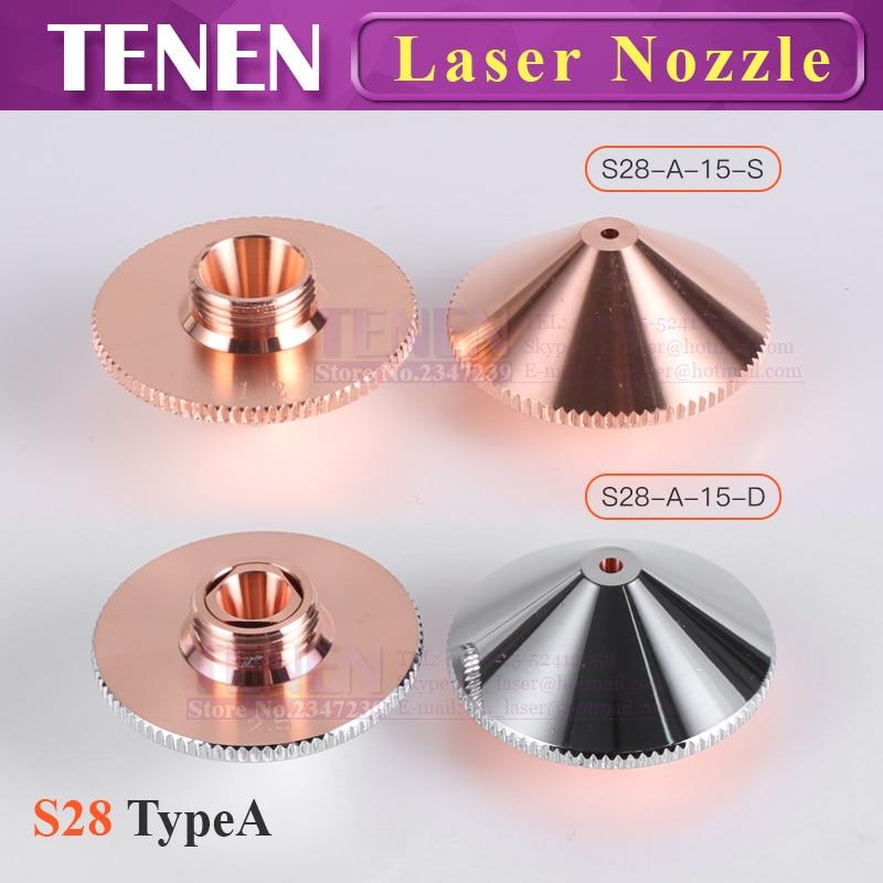 Dia.28mm H15 M11 Single/Double Layers Chrome-Plated Caliber 0.8-5.0 OEM Precitec Laser Nozzles For CNC Fiber Laser Cutting Head
