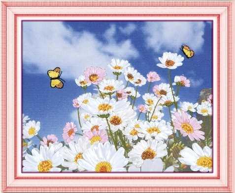 바느질 작업, diy 리본 크로스 스티치 세트 자수 키트, 나비 꽃 사랑 리본 크로스 스티치 handwrok garden needlework