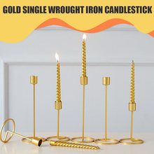 Candle Holder Candlestick Candelabrum Photography Props Ornament Wedding Iron Golden European Creative Table Single-Head