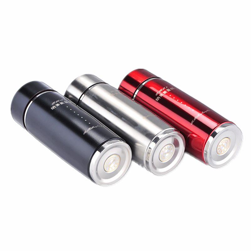 Vacuum Tourmaline Energy Nano Flask Cups Health Water Alkaline Hydrogen Negative Ion Water Ionizer Bottles image