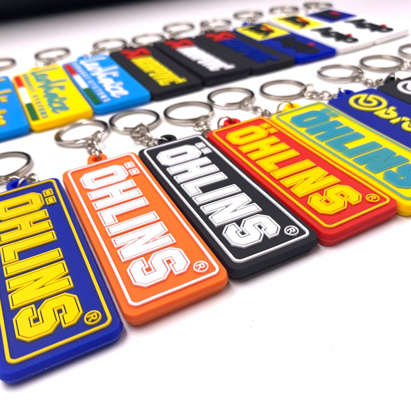 Race Suspension Embroidered Tag Key chain for Motorcycle Bike Scooters Racing Biker Key Ring Accessory ohlins