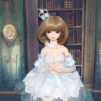 Fortune Days 1/4MMGIRL BJD DOLL joint body with makeup reborn girls blue Lolita clothes kitty shoes 45CM height Blyth dolls toys