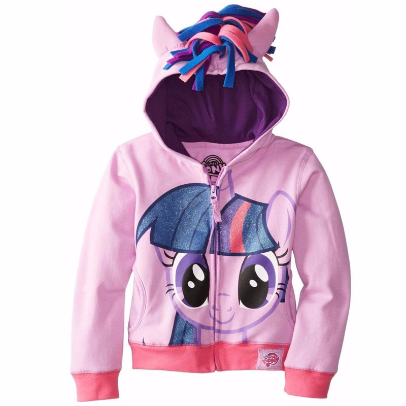 New 2016 Girls Autumn Children Outerwear Little Pony Jackets Coat Hoodies Clothing Roupas Infantil in stock